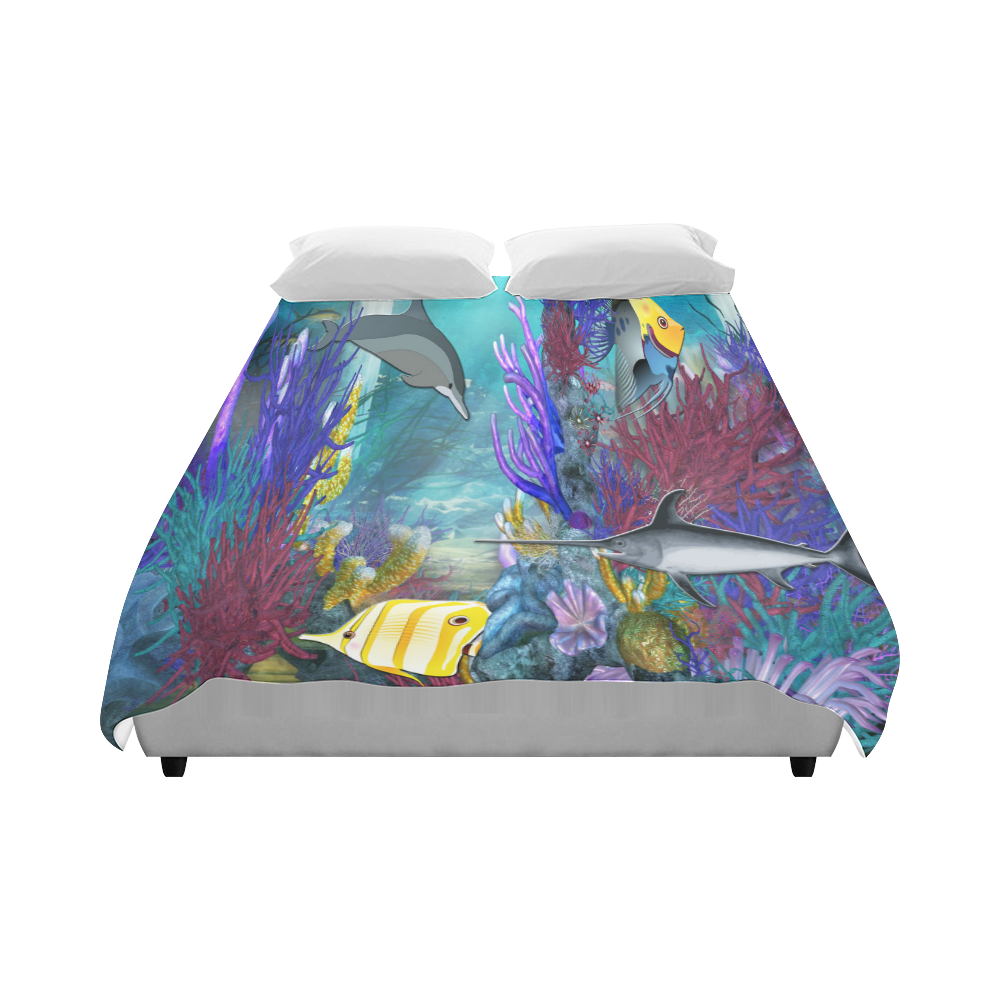 "Tropical Seas Duvet Cover 86""x70"" ( All-over-print)"