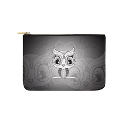 Cute owl, mandala design black and white Carry-All Pouch 9.5''x6''