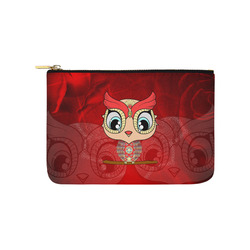 Cute owl, mandala design colorful Carry-All Pouch 9.5''x6''