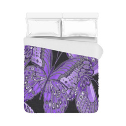 "Purple Butterfly Pattern Duvet Cover 86""x70"" ( All-over-print)"