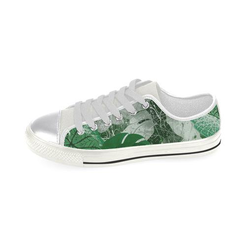 Tropical leaves Canvas Women's Shoes/Large Size (Model 018)