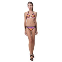 Wilderness Sunset Landscape Custom Bikini Swimsuit (Model S01)