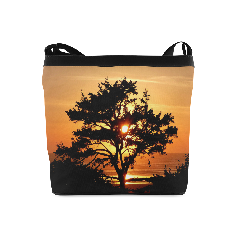 Sunset Silhouette Tree Crossbody Bags (Model 1613)