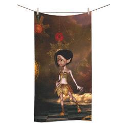 "Sweet steampunk girl on the beach Bath Towel 30""x56"""