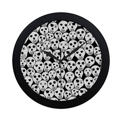 Silly Skull Halloween Design Circular Plastic Wall clock