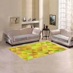 Autumn Colored Triangles Yellow Area Rug 5'x3'3''