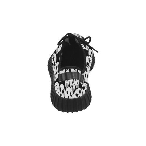 Silly Skull Halloween Design Grus Women's Breathable Woven Running Shoes (Model 022)
