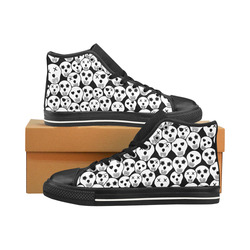 Silly Skull Halloween Design Men's Classic High Top Canvas Shoes /Large Size (Model 017)