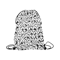 "Silly Skull Halloween Design Large Drawstring Bag Model 1604 (Twin Sides)  16.5""(W) * 19.3""(H)"