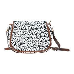 Silly Skull Halloween Design Saddle Bag/Small (Model 1649) Full Customization