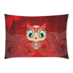 Cute owl, mandala design colorful Custom Rectangle Pillow Case 20x30 (One Side)