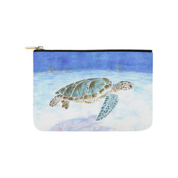 Sea turtle underwater Carry-All Pouch 9.5''x6''