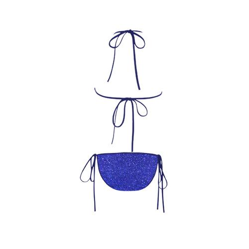 blue glitter Custom Bikini Swimsuit