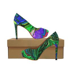 amazing fractal 416 Women's High Heels (Model 044)