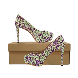 floral comic style 2 C by JamColors Women's High Heels (Model 044)