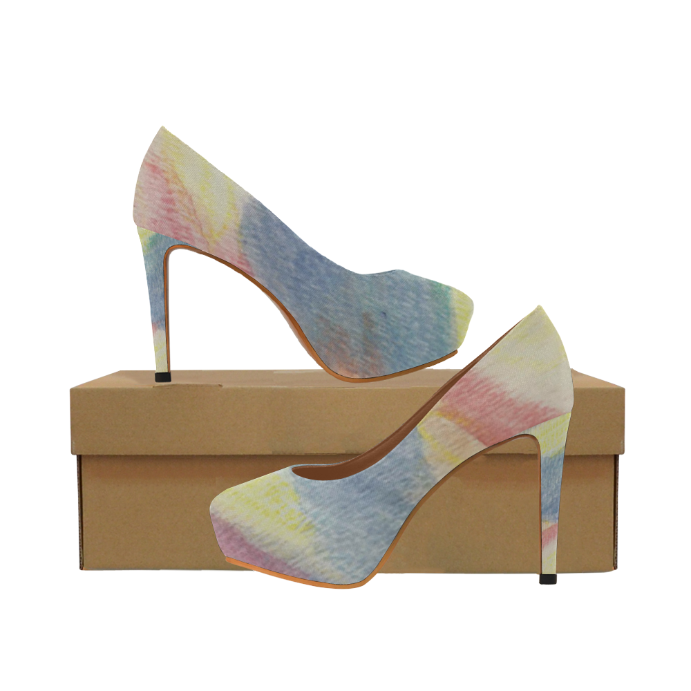 Rainbow Song Women's High Heels (Model 044)