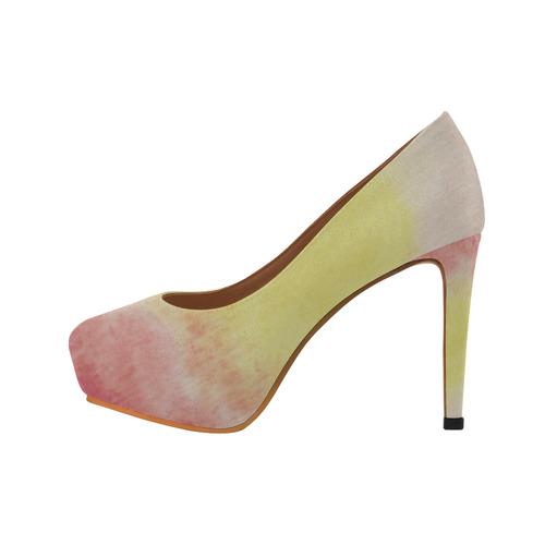 Red Floral Dream Women's High Heels (Model 044)