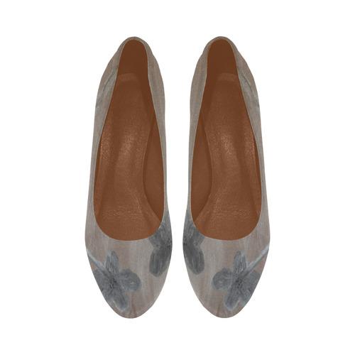 Silver on Copper Women's High Heels (Model 044)