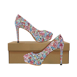 lovely floral 31F by FeelGood Women's High Heels (Model 044)