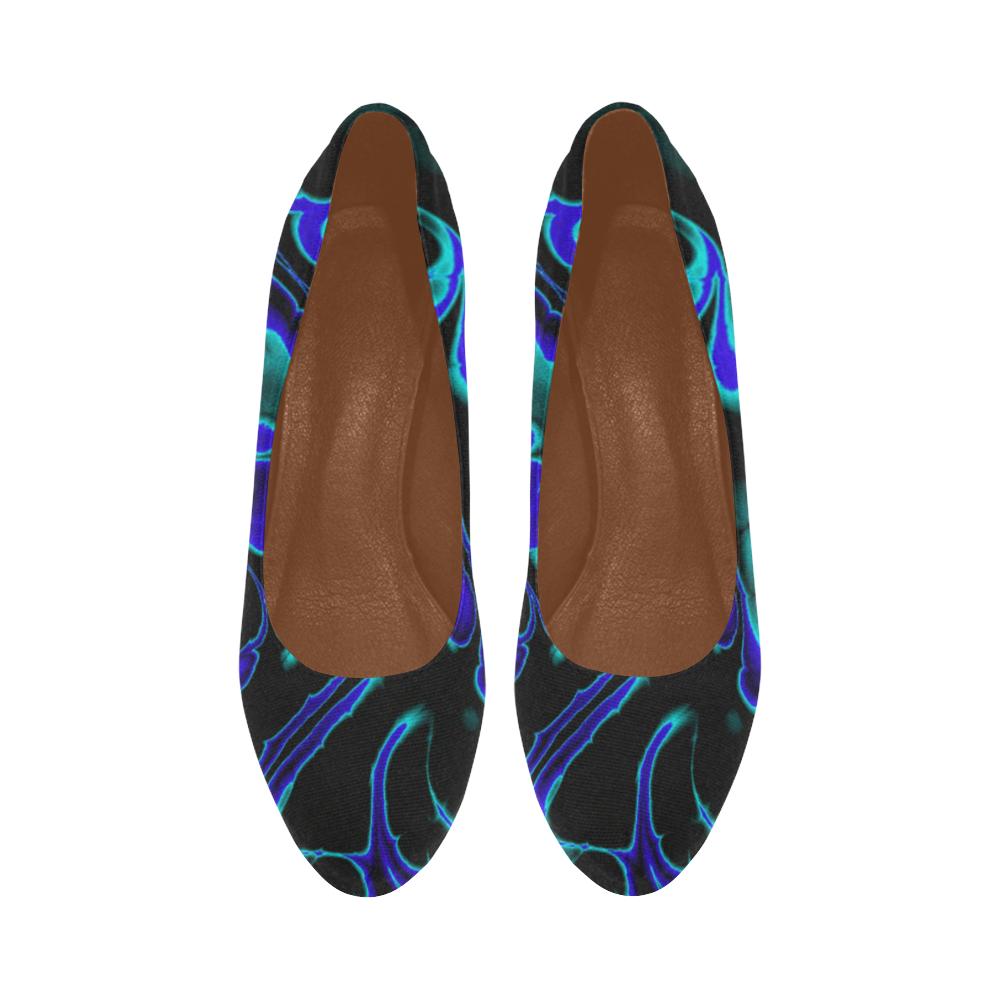 glowing fractal C by JamColors Women's High Heels (Model 044)