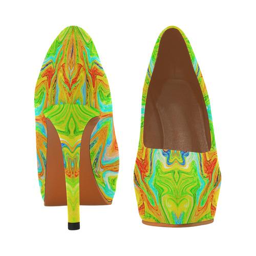 Multicolor Abtract Figure Women's High Heels (Model 044)
