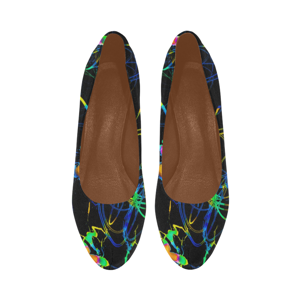 abstract neon fun 11 by JamColors Women's High Heels (Model 044)