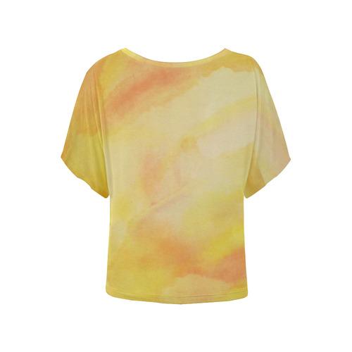 Liberation Women's Batwing-Sleeved Blouse T shirt (Model T44)