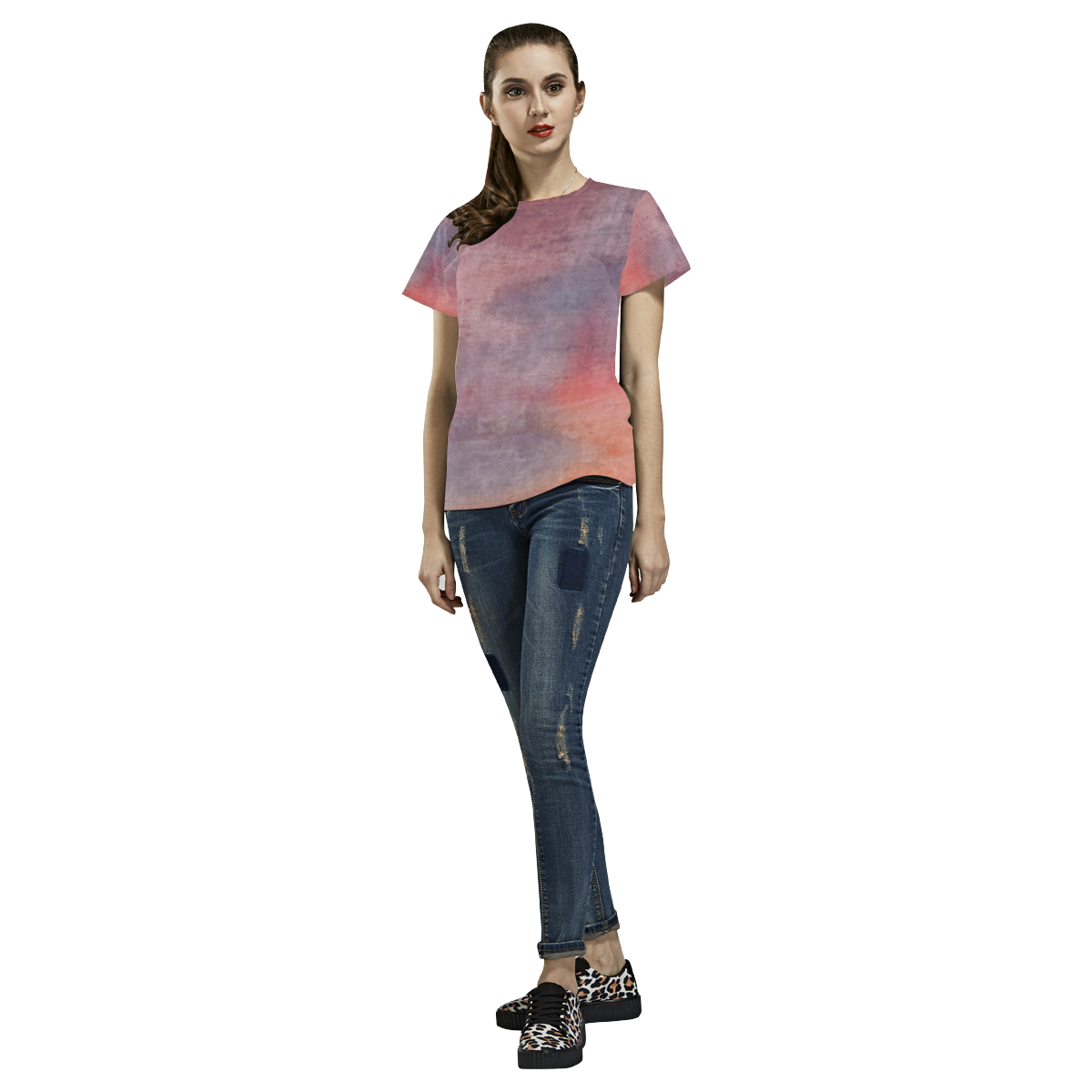Noontide All Over Print T-Shirt for Women (USA Size) (Model T40)