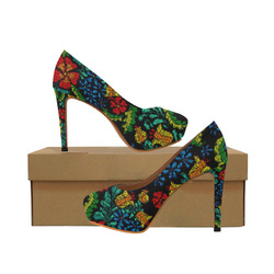 MosaicArt tropic floral by JamColors Women's High Heels (Model 044)