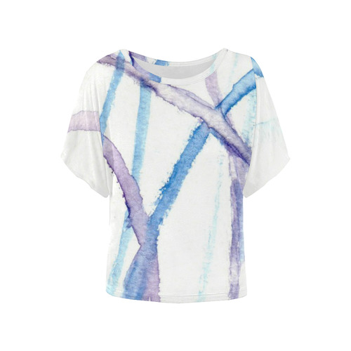 Lines Women's Batwing-Sleeved Blouse T shirt (Model T44)