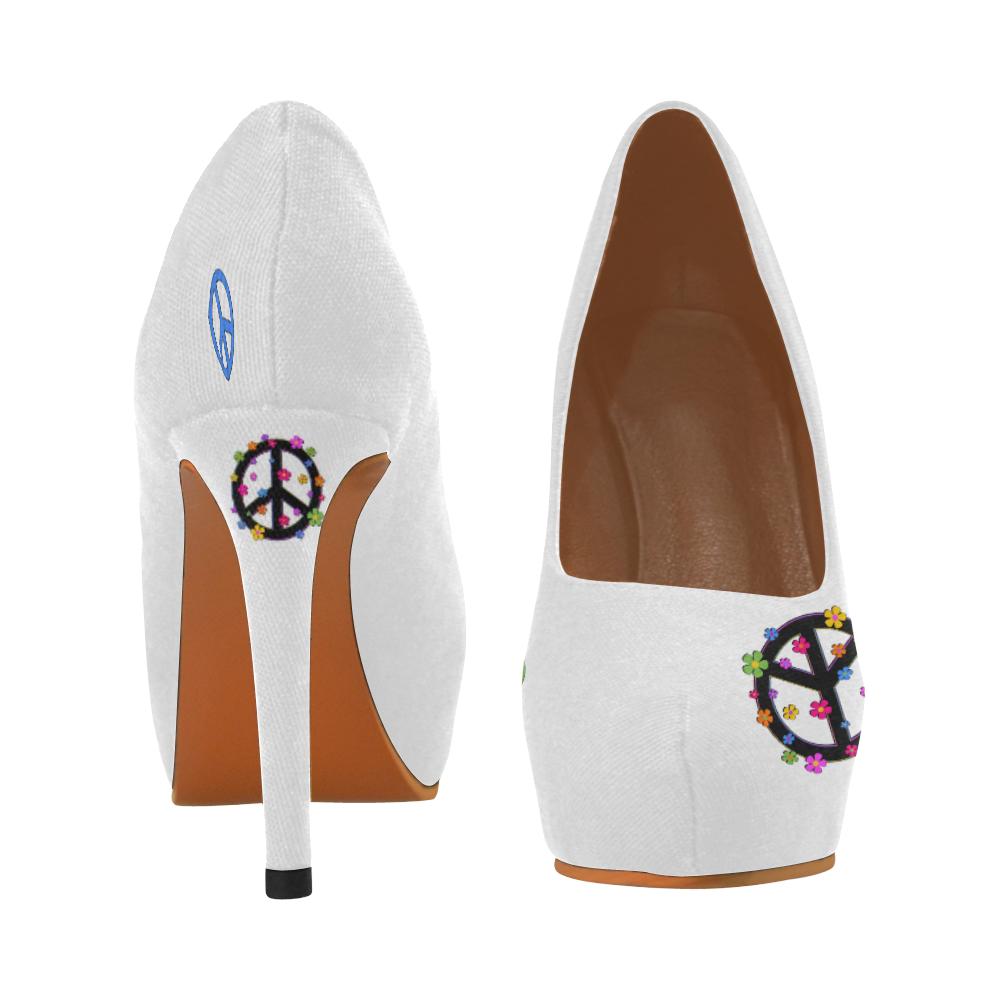 PEace signs 2 Women's High Heels (Model 044)