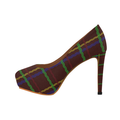 Colourful Tartan Women's High Heels (Model 044)