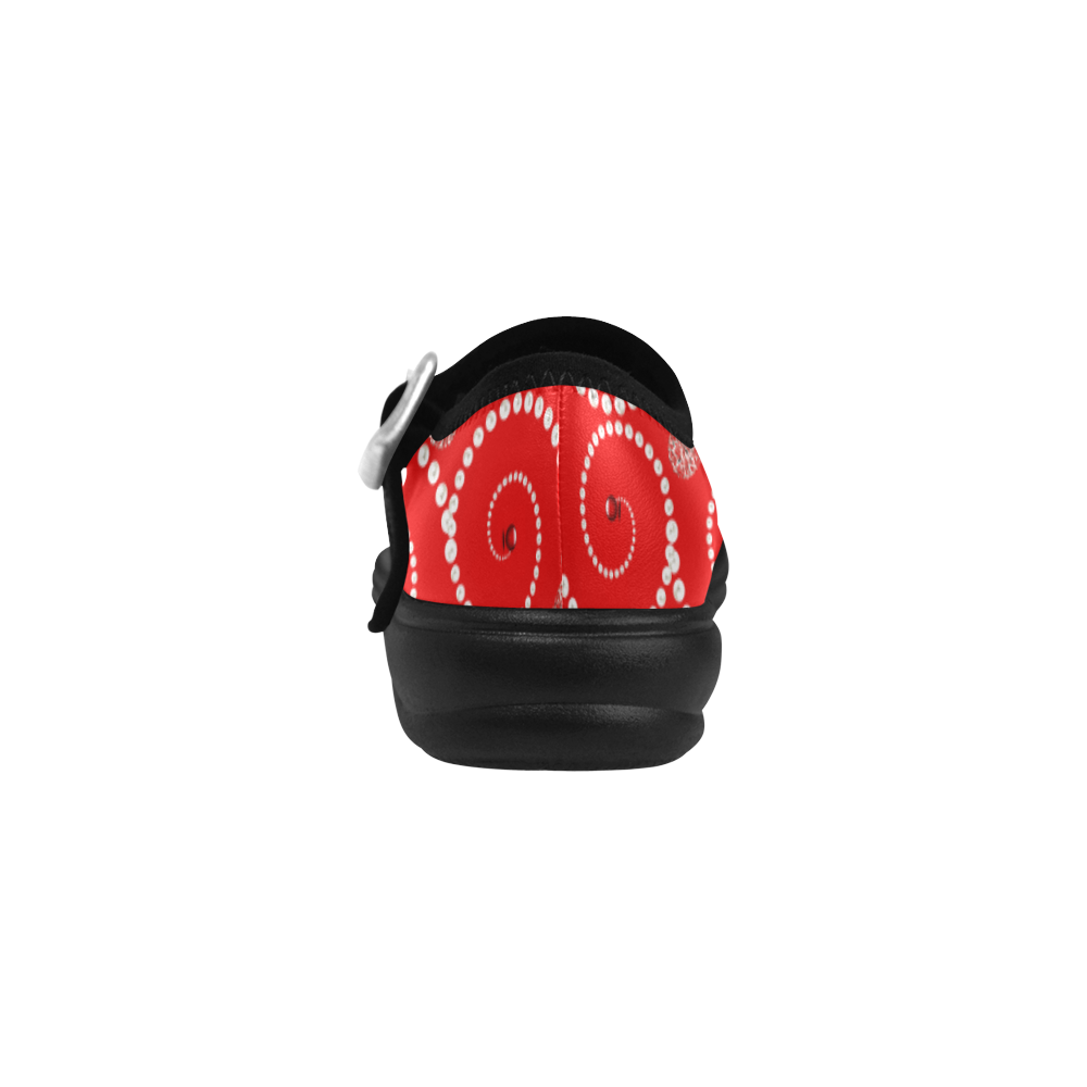 Silver hearts and pearls of white -red Virgo Instep Deep Mouth Shoes