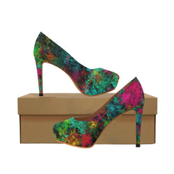 squiggly abstract B by JamColors Women's High Heels (Model 044)