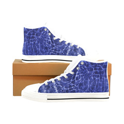 Rattled Water Men's Classic High Top Canvas Shoes /Large Size (Model 017)