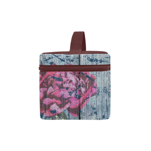 Shabby chic with painted peonies Cosmetic Bag/Large (Model 1658)