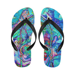 Trippy Cats Flip Flops for Men/Women (Model 040)