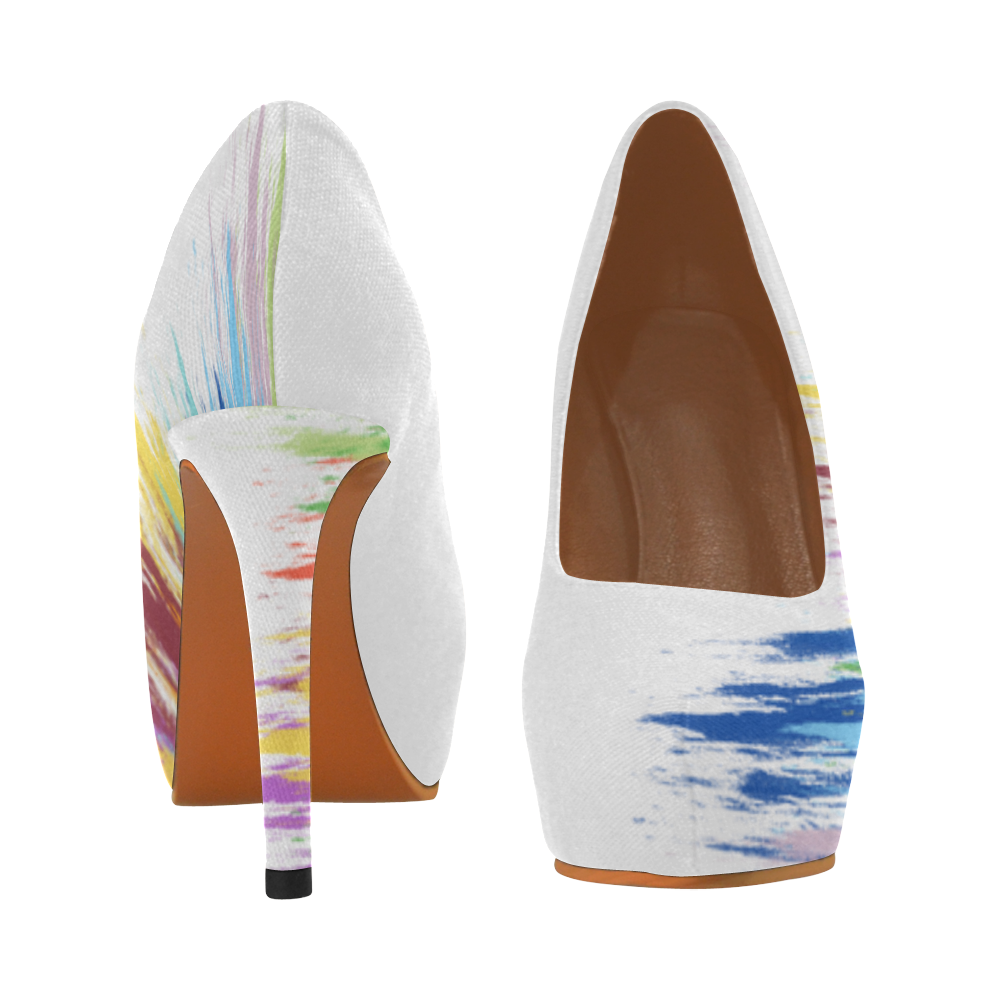 Colorful Painting Women's High Heels (Model 044)