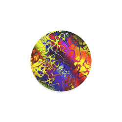 awesome fractal 35C by JamColors Round Coaster
