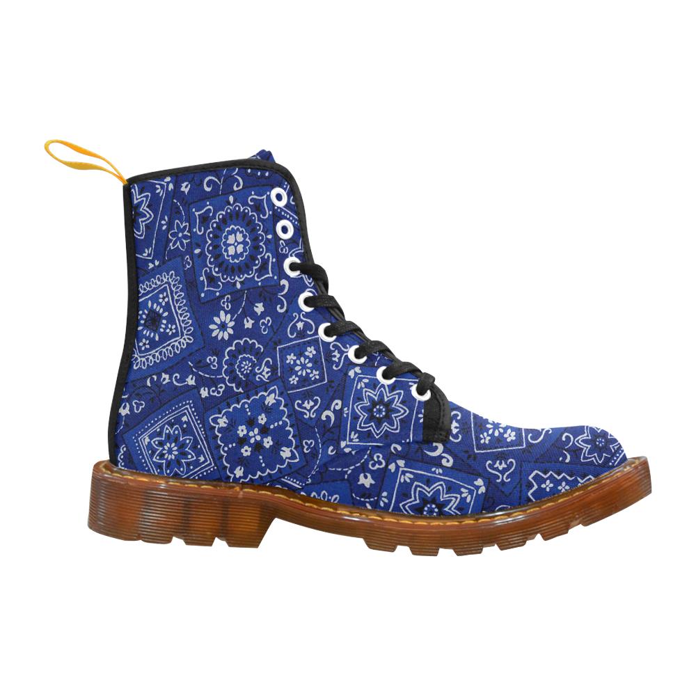BLUE BANDANA BOOTS Martin Boots For Men Model 1203H