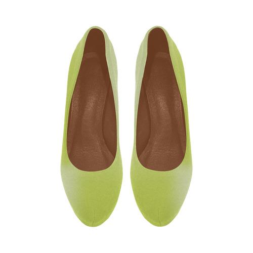 Spring Green Colour Gradient Design Women's High Heels (Model 044)