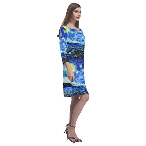 Starry Starry Night Rhea Loose Round Neck Dress(Model D22)