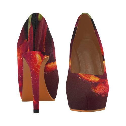 Tulip Spring Res Romantic Rose Love Women's High Heels (Model 044)