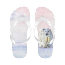 Polar bear in the icy dawn Flip Flops for Men/Women (Model 040)