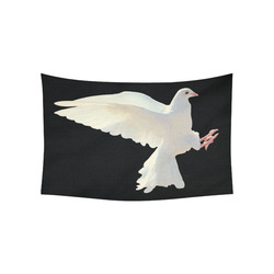 "White Dove Peace Symbol Nature Bird Cotton Linen Wall Tapestry 60""x 40"""