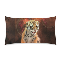 """Cute little tiger Custom Rectangle Pillow Case 20""""x36"""" (one side)"""