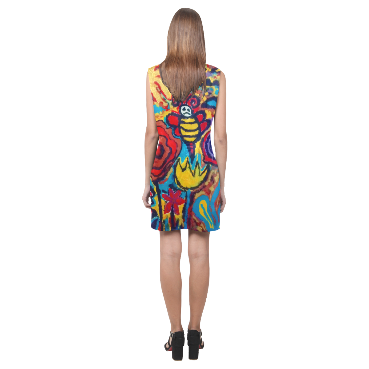 bees nice phoebe sleeveless v neck dress Phoebe Sleeveless V-Neck Dress (Model D09)