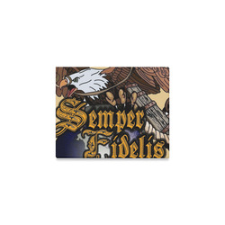 "Semper Fidelis Eagle Globe Anchor Canvas Canvas Print 10""x8"""