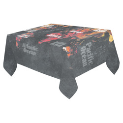 "world map #world #map Cotton Linen Tablecloth 52""x 70"""