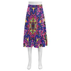 Thleudron Women's David Mnemosyne Women's Crepe Skirt (Model D16)